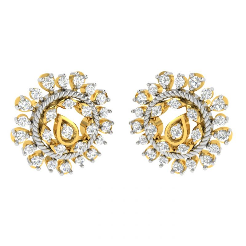 Buy Avsar 18 (750) And Diamond Sneha Earring (code - Ave330a) online