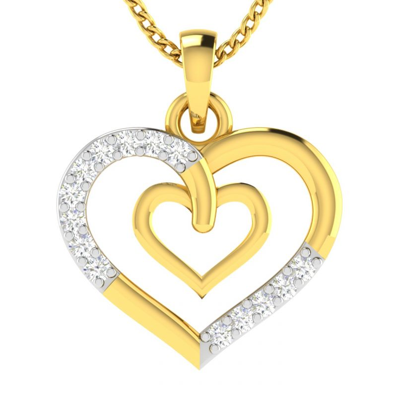 Buy Avsar Real Gold And Diamond 18k Pendant (code - Avp509a) online