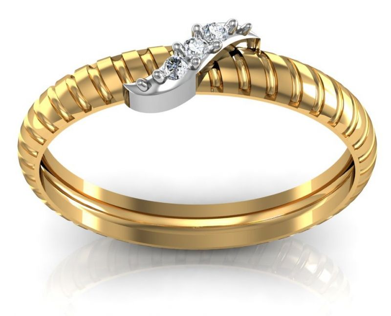 Buy Avsar Real Gold and Diamond Ragini Ring online