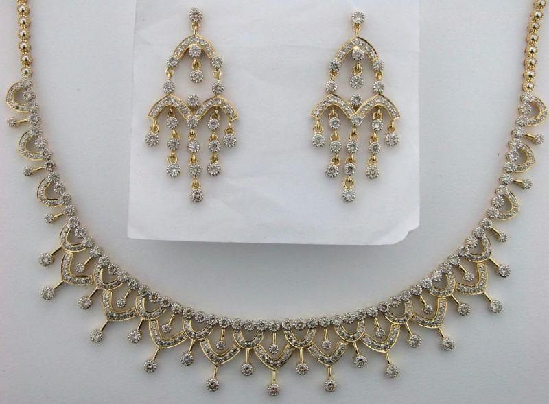 Buy Diamond 14k Gold Bridal Necklace Set line