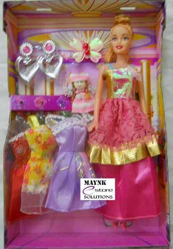 Buy Doll, 3 Dresses Set, Small Baby Infant Girl, Kids Toys For Girls Gift Item online