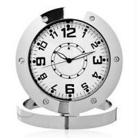 Buy Spy Metal Clock Audio Video HD Rec Camera Better Than Pen Button online