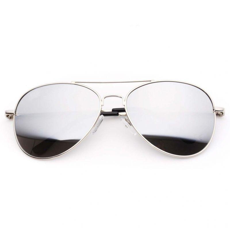 Aviator Sunglasses Silver Frame, Silver Mirror Frame Sunglasses