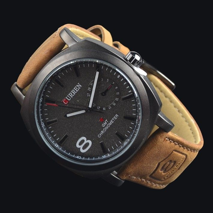 for brown digital watch naviforce watches proddetail analog men mens