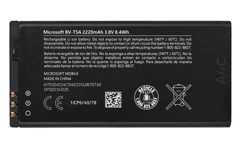 Buy Nokia Lumia 730 Li Ion Polymer Replacement Battery Bv-t5a By Snaptic online