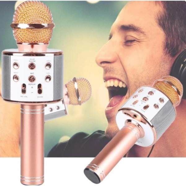 Buy Karaoke Wireless Ktv Mini Portable Handheld Speaker Mike Wireless Bluetooth Microphone online