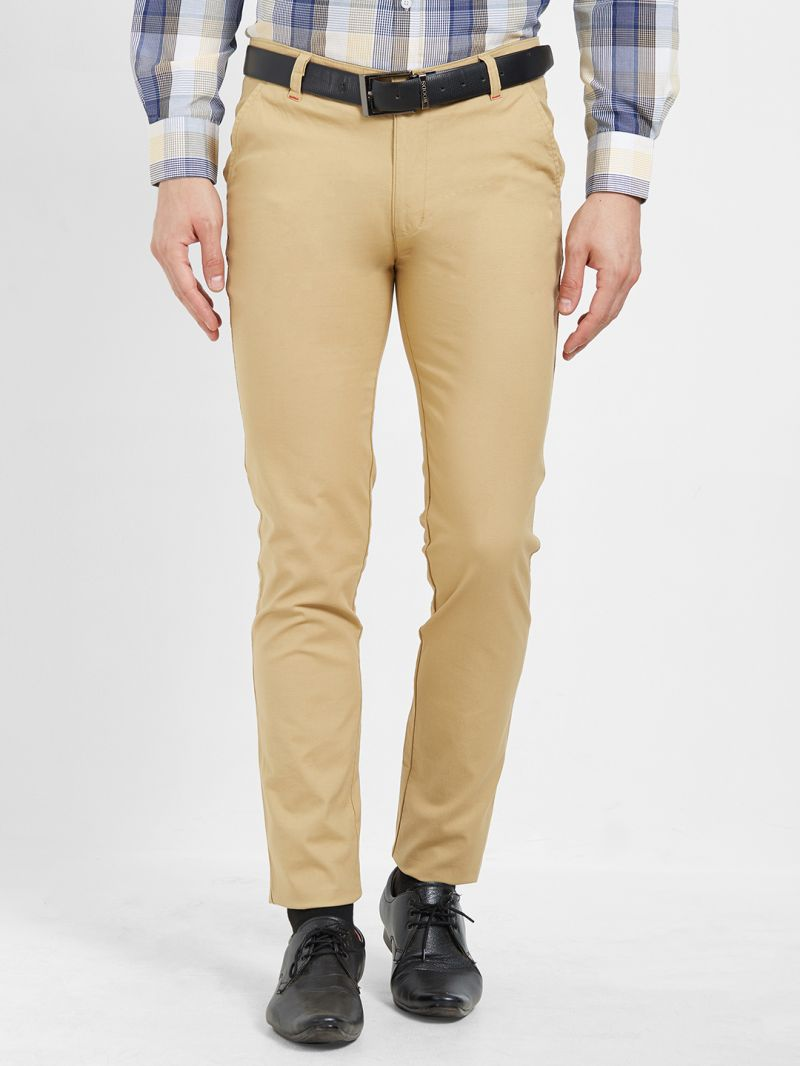 Buy Solemio Cotton Lycra Chinos For Mens online
