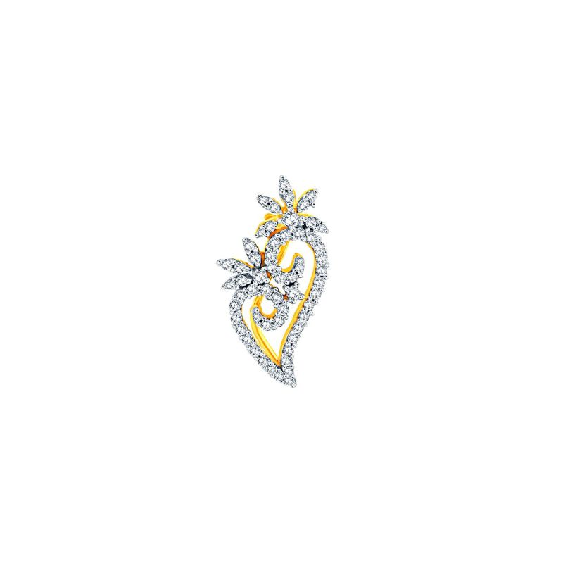 Buy Sangini Yellow Gold Diamond Nosepin online