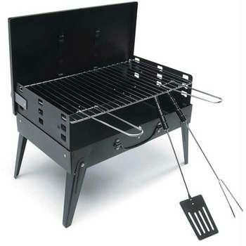 Toasters Grillers Flatlander Portable Barbecue Charcoal Grill Le India